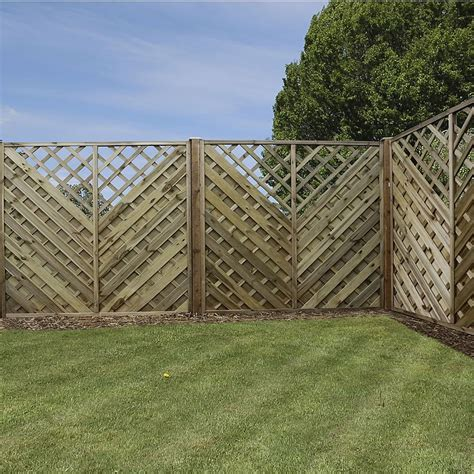 6ft Fence Panels With Trellis by 6ft X 6ft Waltons Pt Chevron Weave With Trellis Garden