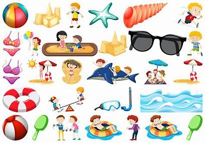 Beach Objects Vector Icon Clipart Vectors Graphics