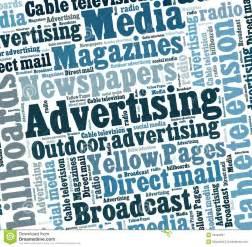 Advertising Media Collage