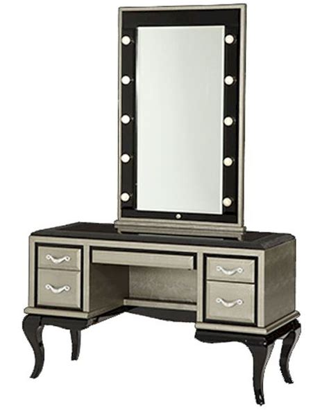 vanity desk with mirror aico after eight vanity desk mirror in titanium ai