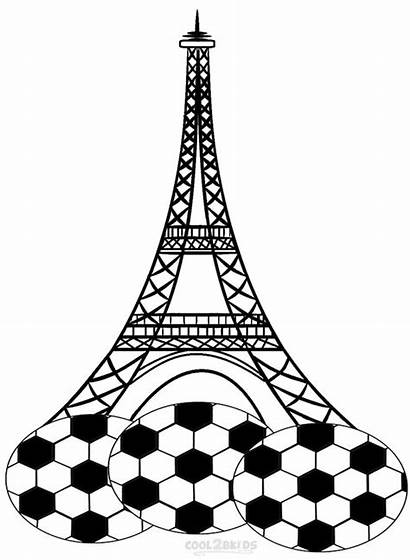Eiffel Tower Coloring Pages Printable Drawing Paris