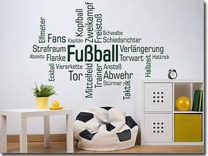 Fussball Deko Kinderzimmer : wortwolke fussball fu ball kinderzimmer wandgestaltung ~ Watch28wear.com Haus und Dekorationen