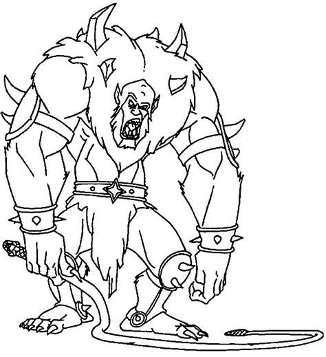 dessin 195 colorier monstre cie