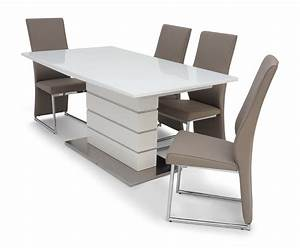 Meridius, Bold, Strong, White, Gloss, Extendable, Dining, Table, 160