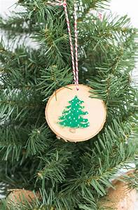 Rustic, Wood, Painted, Christmas, Ornaments