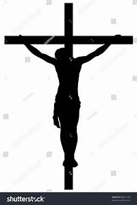 Jesus Christ Crucifiction Silhouette Stock Vector 88021189 ...