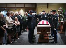 Mourners gather for US soldier Aaron Toppen killed in