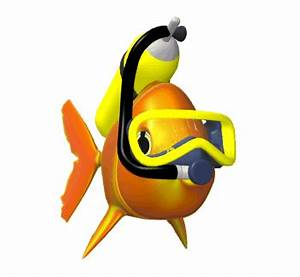 Fish swimming in clip art animations