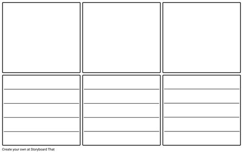 Storyboard Template Blank Storyboard Template With Lines Storyboard