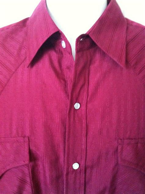 mens large western shirt ely cattleman pearl snap long