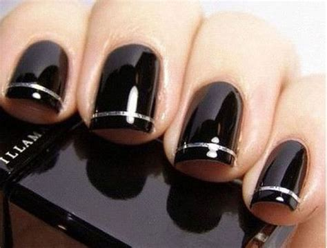 black gel nail art designs ideas  fabulous nail