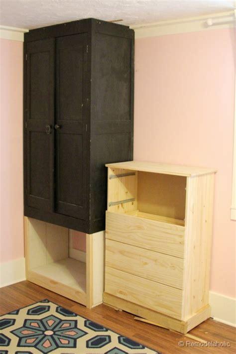 build dresser in closet plans free