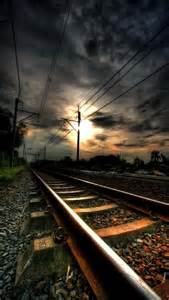 Railroad Tracks Train Coming