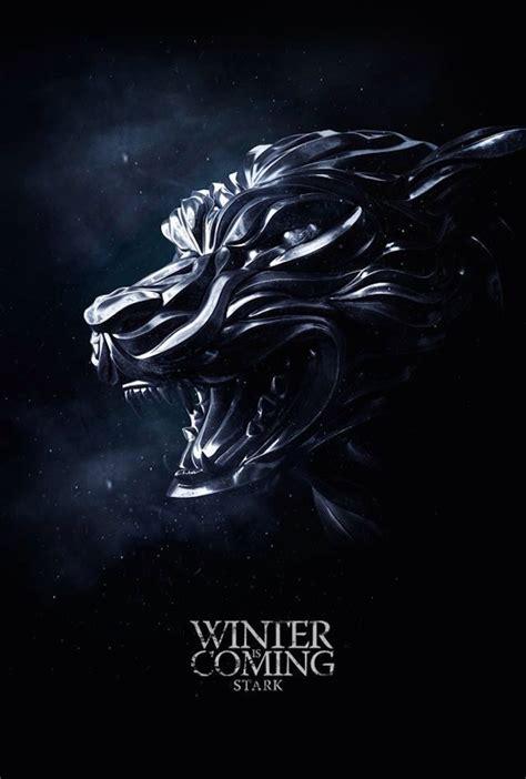 game thrones wallpaper winter coming stark black