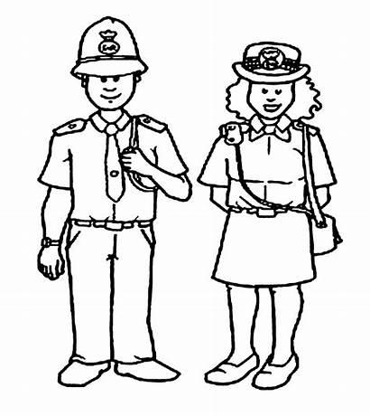 Polisi Gambar Police Mewarnai Coloring Kartun Untuk