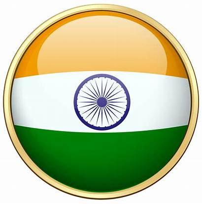 India Flag Round Badge Vector Clipart