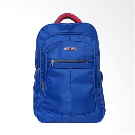 jual polo itali tas ransel laptop biru harga