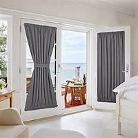 french door curtain panels Nicetown Blackout Patio Door / French Door /Glass Door ...