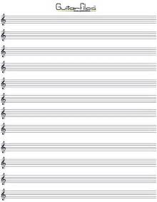 Printable Blank Music Staff Paper