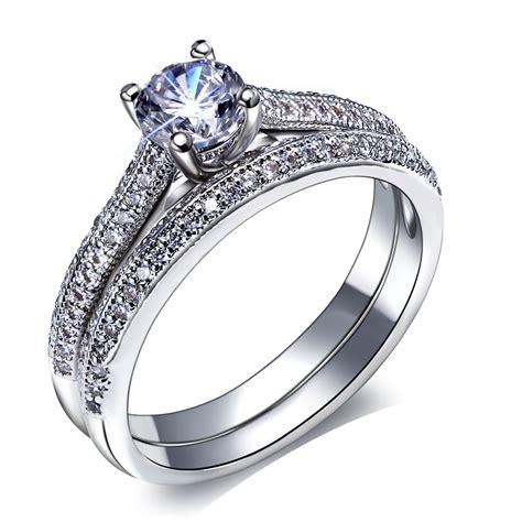 aliexpress buy bridal wedding rings set 18k gold