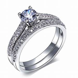 aliexpresscom buy bridal wedding rings set gold and With white gold wedding and engagement ring sets
