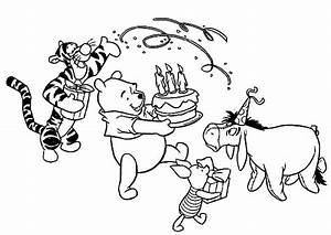 Disney Birthday For Winnie The Pooh Coloring Pages Best