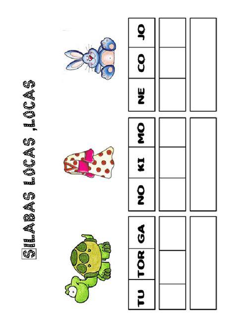 silabas en espanol imprimir actividades imprimir pon las s 237 labas en orden http
