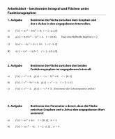 Unbestimmtes Integral Berechnen : matheaufgaben zur integralrechnung fl chenberechnung das integral ~ Themetempest.com Abrechnung