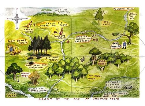 Items Similar To Map Of The Hundred Acre Woods -winnie The