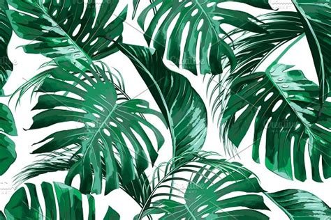 tropical jungle leaves pattern patterns creative market
