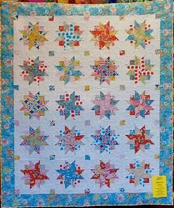 Ribbon Star Quilt Kit - 75 X 85