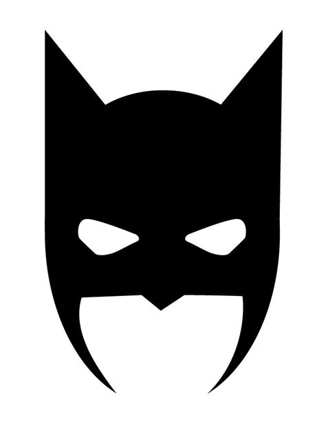 batman mask halloween silhouette   coloring pages