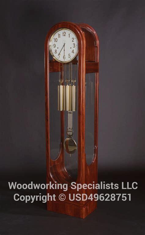 custom  contemporary grandfather clock  woodworking