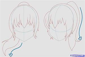 Anime Ponytail Hairstyles Learn How To Draw Girl Hair ...