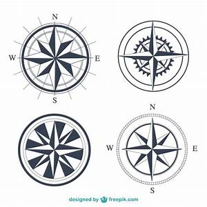 Simple compasses set Vector | Free Download