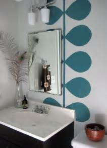 modern bathroom mural