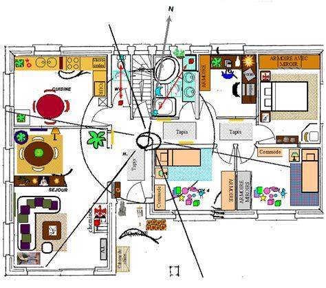 étude feng shui sur plan de maison eveil nature bio