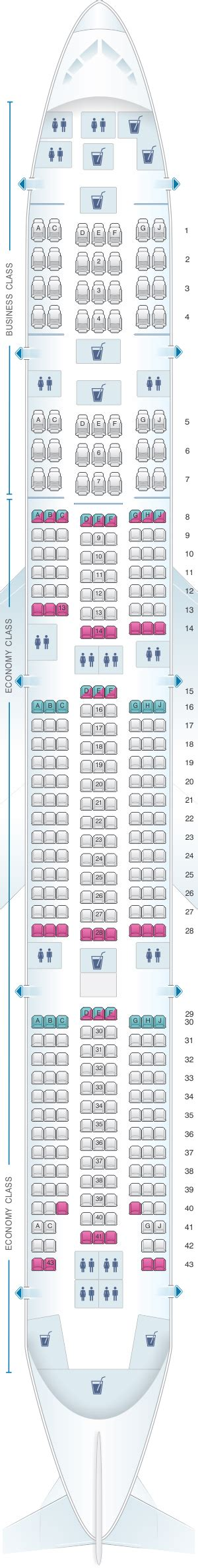 siege boeing 777 plan de cabine egyptair boeing b777 300 seatmaestro fr