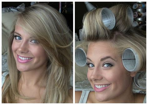 Voluminous Hair with Velcro Rollers   YouTube