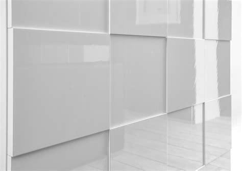 high gloss white cabinet doors treviso sideboard three doors high gloss white finish