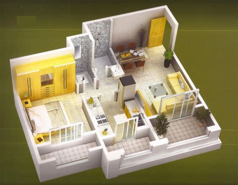 25 One Bedroom Houseapartment Plans by 25 One Bedroom House Apartment Plans Small Houses Layout