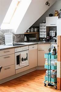 Kleine Küche Mit Schräge : meine k che und diamanten aus stroh diy ach du gute g te ~ Markanthonyermac.com Haus und Dekorationen