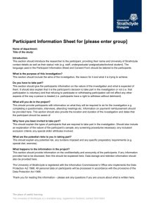 information sheet template classroom research