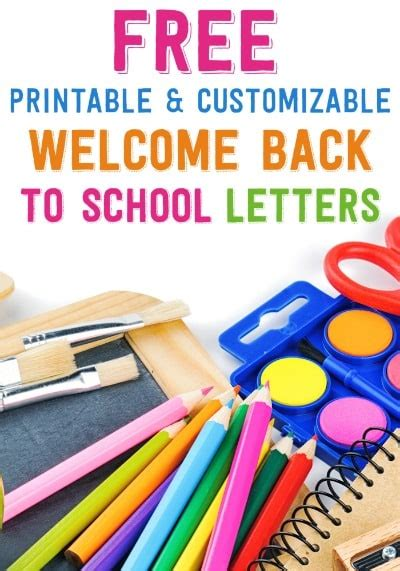 back to school letter from free printable and customizable welcome back to school letters 20543