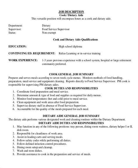 100 sle resume for dietary aide comparison and
