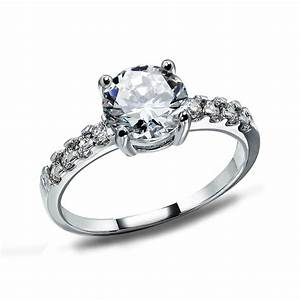 womens shiny crystal imitation diamond 925 sterling silver With imitation wedding rings