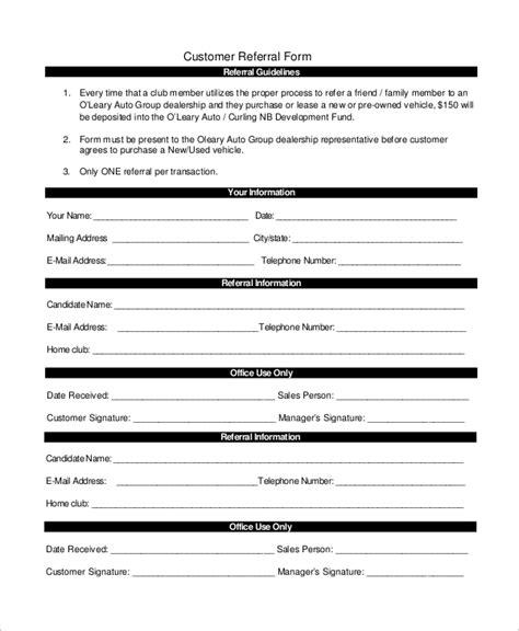 sle referral form 10 exles in word pdf