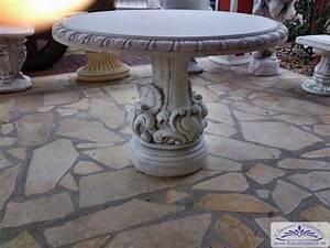 betonmobel gartentisch rund massiv und schwer jugendstil With französischer balkon mit garten steintisch