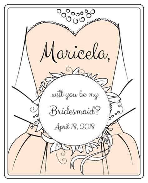 bridesmaid wine bottle labels label