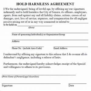 hold harmless agreement 7 free pdf doc download With hold harmless waiver template